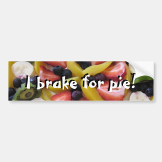 I Brake For Pie! Bumper Sticker