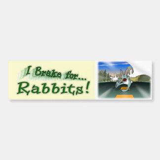 I Brake for Rabbits! Bumper Sticker