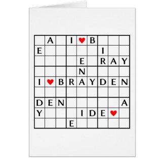 I♥BRAYDEN CARD