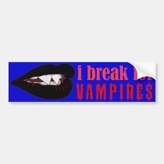 I break for Blk Vampire Lips Crop Bumper III Bumper Stickers