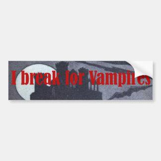 I break for Vampires Castle Bumper Sticker