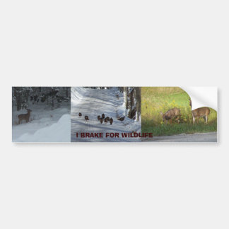 I BREAK FOR WILDLIFE BUMPER STICKER