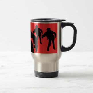 I Break for Zombies Black Silhouettes Travel Mug