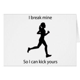 I break mine card