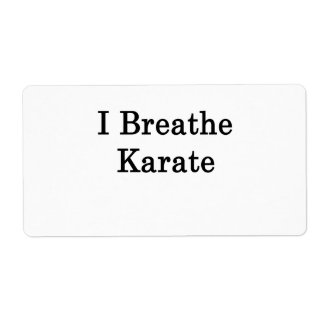 I Breathe Karate Shipping Labels