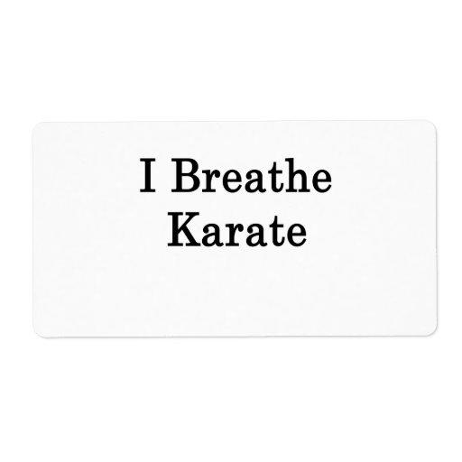 I Breathe Karate Shipping Labels