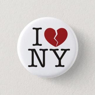 I [broken heart] NY 1 Inch Round Button