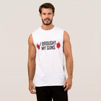 I brought my guns funny sleeveless t-shirt