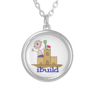 I Build Silver Plated Necklace