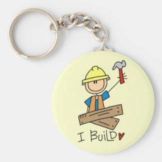 I Build Stick Figure Carpenter Tshirts Keychain
