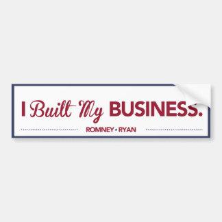 I Built My Business Bumper Sticker Blue Border