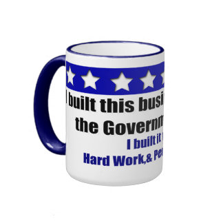 I built this business ringer coffee mug