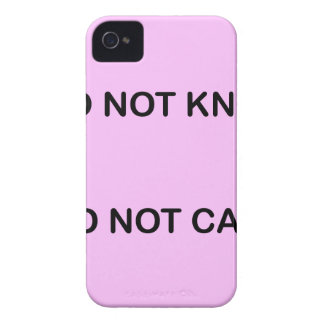 I C NOT KNOW I C NOT CARE iPhone 4 CASE