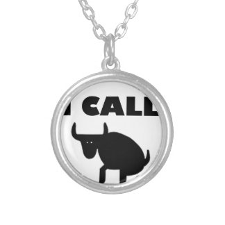 i call it bull strength silver plated necklace
