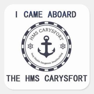 I Came Aboard Sticker