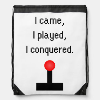 I Came I Played Drawstring Bag
