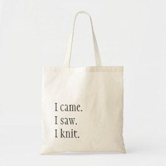I came. I saw. I knit.