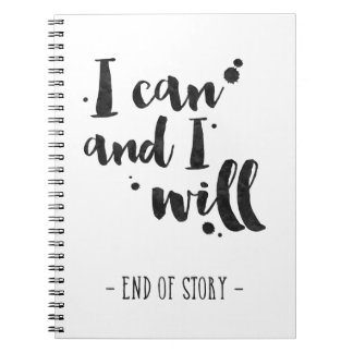 I Can And I Will - Inspirational Journal Notebooks