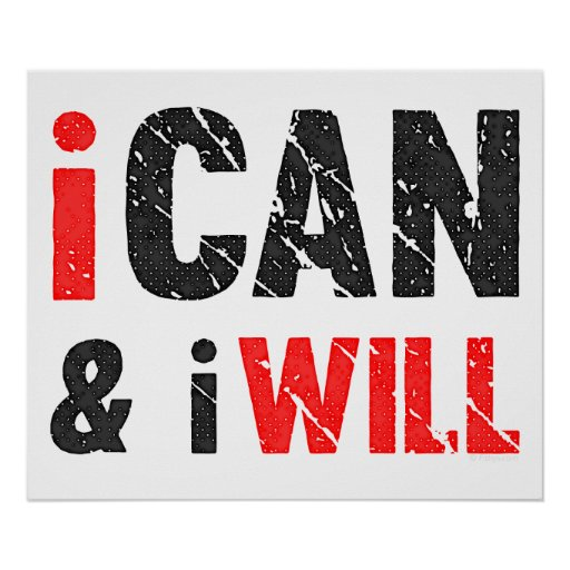 I Can And I Will | Vintage Look Print