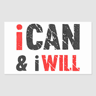 I Can And I Will | Vintage Look Sticker