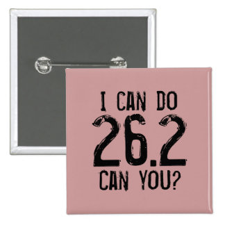 I can do 26.2 -- Can you? 2 Inch Square Button