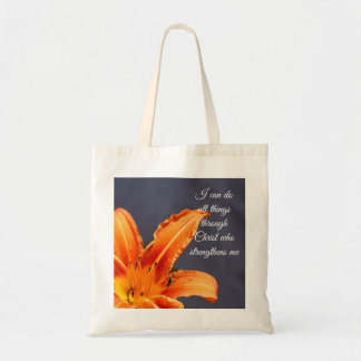 I Can Do All Things Day Lily & Critter Budget Tote