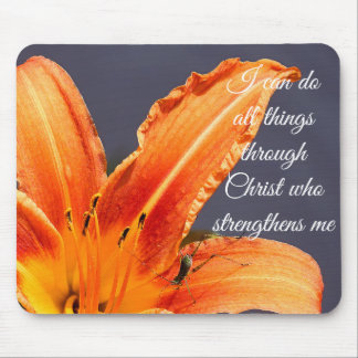 I Can Do All Things Day Lily & Critter Mousepad