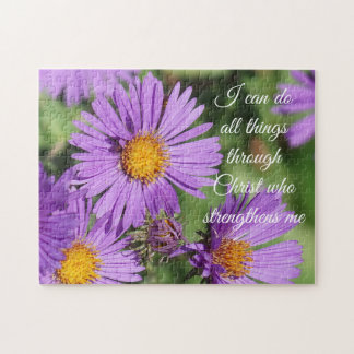 I Can Do All Things New England Aster Puzzle