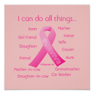I can do all things through Christ Breast Cancer Poster