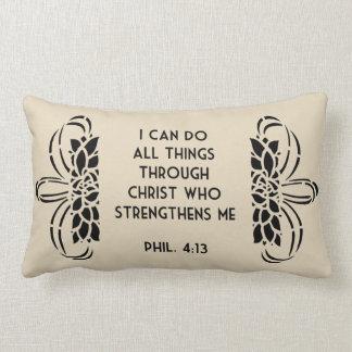 I Can Do All Things Through Christ Lumbar Pillow