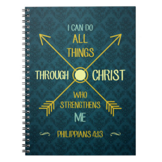 I Can Do All Things Through Christ Philippians 4 Notebook