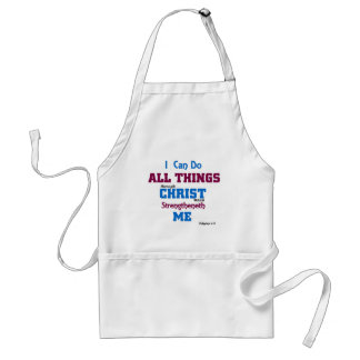 I can do all things through christ. standard apron