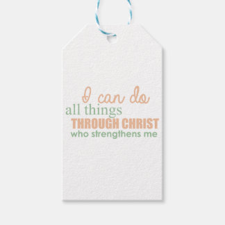 I can do all things through Christ Who strengthens Gift Tags