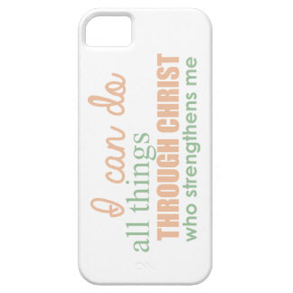 I can do all things through Christ Who strengthens iPhone 5 Cover