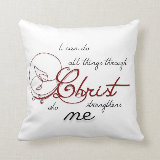 I can do all things throw pillow