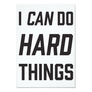 "I can do hard things card 3.5"" x 5"" invitation card"