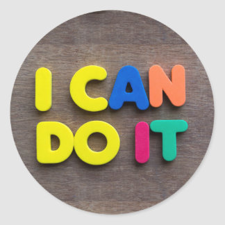 i can do it classic round sticker