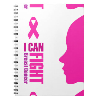 I can fight breast cancer- support women notebook