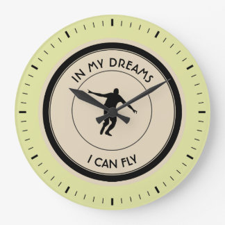 I CAN FLY LARGE CLOCK