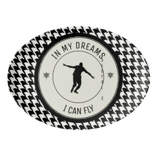 I CAN FLY PORCELAIN SERVING PLATTER