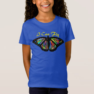 """I Can Fly"" with Iridescent Butterfly T-Shirt"