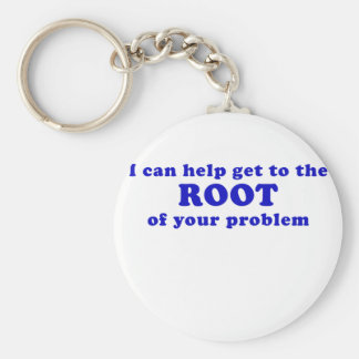 I can Help get to the Root of your Problem Basic Round Button Keychain