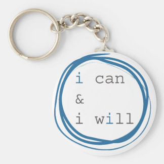 I can & I will Basic Round Button Keychain