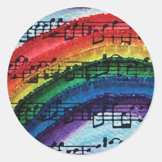 I Can Sing A Rainbow Round Sticker