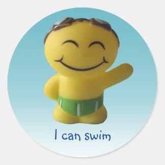 I can swim round sticker