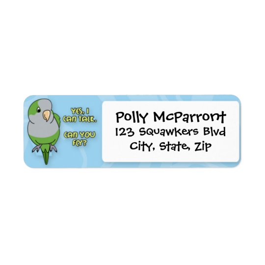 I Can Talk Quaker Parakeet Return Address Label