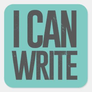 I can write square sticker
