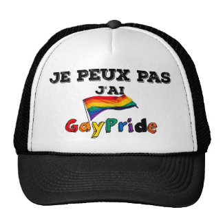 I cannot I have GayPride (French excuse) Trucker Hat