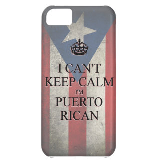 I cannot keep calm i'm puerto rican flag iPhone 5 iPhone 5C Case