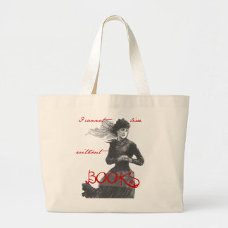 I Cannot Live Without Books Jumbo Tote Bag